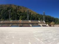 2017 08 31 Almaty Medeo weltberühmtes und schönes Eisstadion