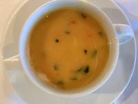 Suppe Creme aus weissem Spargel