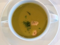 Suppe Grüne Erbsencremesuppe
