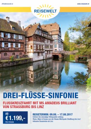 Flusskreuzfahrt Strassburg Linz August 2017 Folder