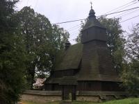 Slowakei Hervartov Holzkirchen in den Karpaten Kopfbild