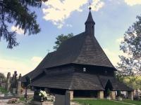 Slowakei Tvrdosin Holzkirchen in den Karpaten Kopfbild