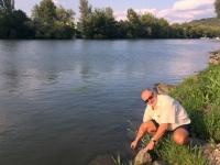 2017 09 09 Trencin Wasserentnahme Fluss Waag