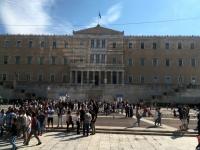 2017 10 04 Athen Vorbeifahrt am Parlament