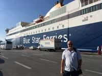 2017 10 04 Piräus Abfahrt mit der Fähre nach Paros
