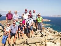 2017 10 07 Delos Blick von der Bergspitze Gruppenfoto