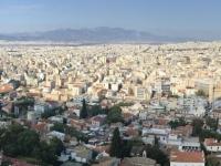 2017 10 04 Blick von der Akropolis auf die riesige Stadt