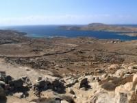 2017 10 07 Delos Blick von der Bergspitze auf einige Kykladen Inseln