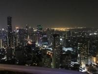 2017 10 29 Bangkok Lebua Tower Blick auf das nächtliche Bangkok