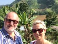 2017 10 31 Dorf Ban Huay Lern Blick auf Mekong