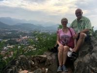 2017 11 02 Luang Prabang Herrlicher Blick Stadthügel Mount Phousi