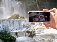 2017 11 03 Kuangsi Wasserfall Park Selfie