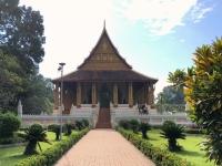 2017 11 08 Vientiane Tempel Wat Ho Phra Keo Gartenanlage