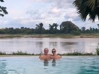 2017 11 09 Champasak Hotel River Resort mit herrlichem Invinitypool