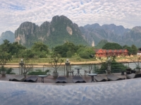2017 11 07 Vang Vieng Morgenblick vom Hotel aus