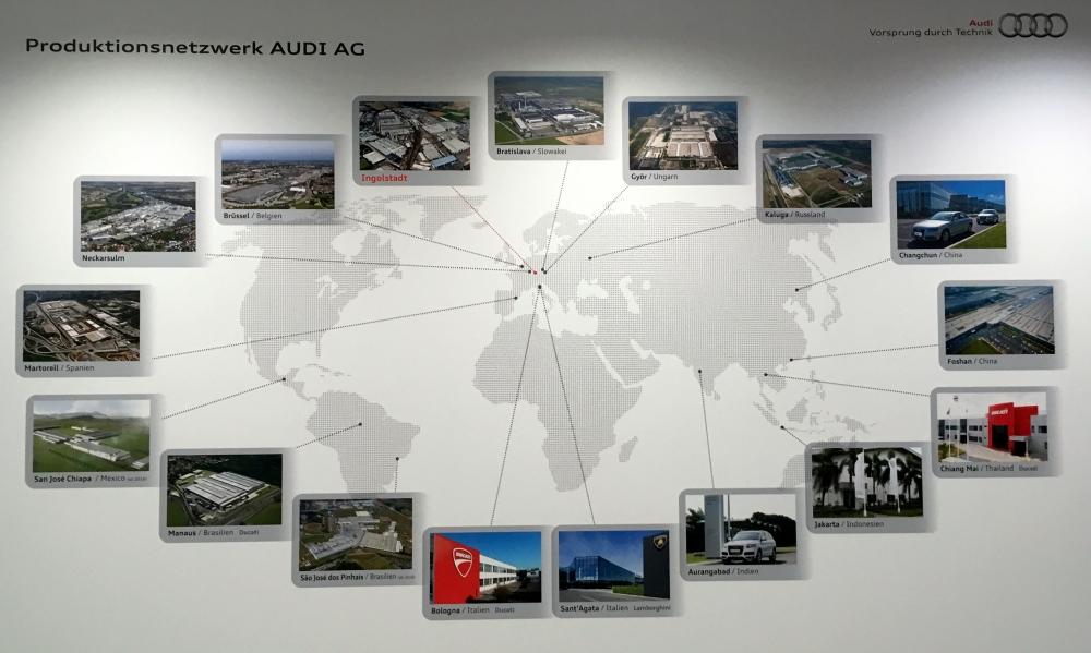 Audi Standorte weltweit