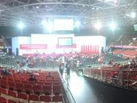 Panoramabild auf die Bühne