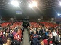 Panoramabild von der Bühne
