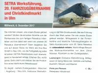 Ausschreibung Werksbesichtigung Setra Busse Ulm