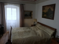 Schlafzimmer in der Pension