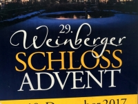 Plakat Weinberger Schloss Advent