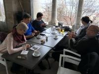 Stärkung im Cafe der Fischerbastei
