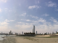2017 02 17 Kuwait Towers im Panorama mit Eric