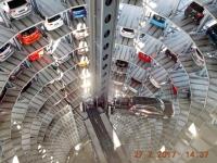 2017 02 27 Wolfsburg Autostadt Auffahrt Glasturm