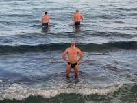 2018 02 27 Baden im Meer bei 16 Grad Wassertemperatur