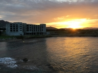 2018 02 28 Beachbar Nähe Hotel perfekter Sonnenuntergang