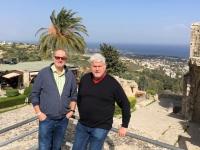 2018 03 01 Kyrenia Bellapais Blick auf die Küste mit Heli