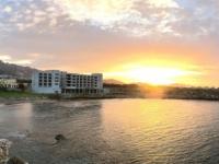 2018 02 28 Beachbar Nähe Hotel mit Sonnenuntergang