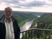 2018 05 01 Erster Blick von der Bastei auf die Elbe