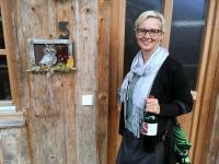 Auch unser Baumhaus Nr 5 empfängt Jutta mit einer Eule