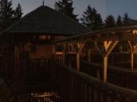 Baumhotel bei Nacht