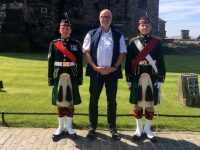 2018 05 19 Edinburgh Castle mit Soldaten in Ausgangsuniform