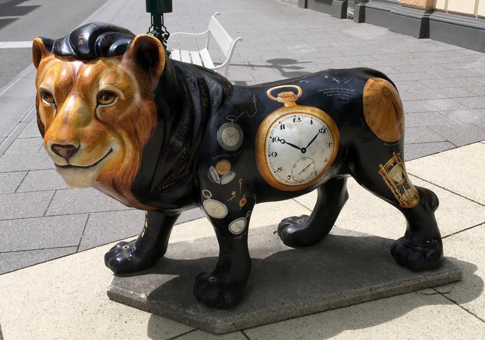 Löwe in der Bad Ischler Innenstadt