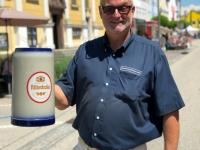 Ritterbräu Werbung mit 5 Liter Bierkrug