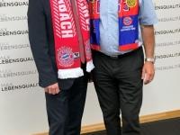 LR Max Hiegelsberger mit Kassier Sepp Ruschak