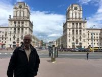 2018 06 25 Das Tor von Minsk vom Bahnhofsplatz