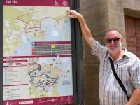 Spanien Ibiza Biologische Vielfalt und Kultur Altstadt Dalt Vila Tafel
