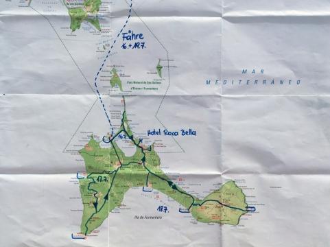 2018 07 12 1 Routenplan Formentera
