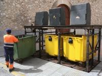 2018 07 13 Ibiza sehr moderne Müllabfuhr