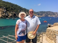 2018 07 14 Berühmter Strand Benirras mit Sonntagstrommler