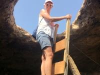 2018 07 17 Formentera Cap de Barbaria Einstieg Felsenhöhle