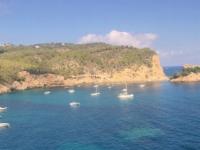 2018 07 14 Blick von der Höhle Can Marca in Puerto San Miguel