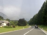 Wolkenbruch kurz nach dem Pötschenpass