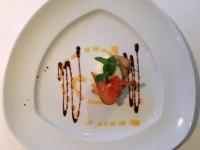 Dessert Joghurt Quark Nocke und Krokant