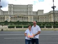 2018 07 30  Bukarest Parlamentspalast Reiseweltkollegin Birgit
