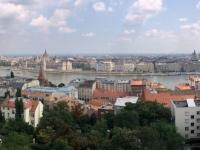 2018 08 03 Budapest Von der Fischerbastei mit Blick auf das Parlament
